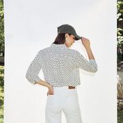 Einzelstücke: Luftige Bluse 'Mika' in Black/White
