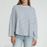 Lässiges Oversize-Streifenshirt aus Baumwolle