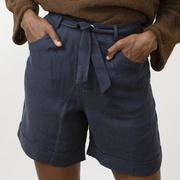 Leinen-Shorts von 'Jungle Folk' in Night Blue