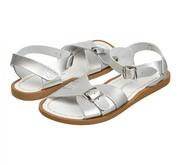Mit Schnalle: 'Saltwater Classic Sandals' in Silver