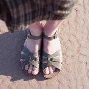 Die echten 'Saltwater Original Sandals' in Oliv