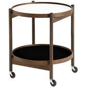 'Tray Table' in Eiche - Schwarz/Weiss