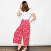 Luftige Culotte in Sakura Red oder Blau