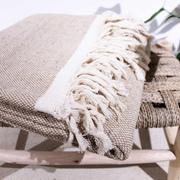 Handgewobenes Plaid 'Cotton' in 4 Farben