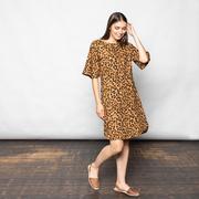 Statement-Kleid mit Animalprint