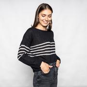 Strickpullover mit Streifen von 'Tricot Pop' in Black