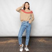 Norweger Pullover von 'Tricot Pop' in Beige