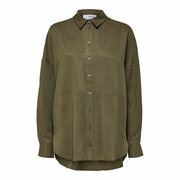 Lyocell Bluse von 'Selected Femme' in Khaki