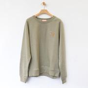 Handbesticktes Sweatshirt in Gelb oder Grau
