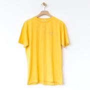 Handbesticktes T-Shirt in Gelb