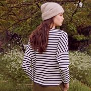 Sweatshirt von 'Des Petits Hauts' in Ecru / Marine