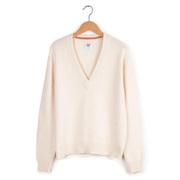 V-Neck-Pullover von 'Collectif mon Amour' in Offwhite oder Ziegelrot