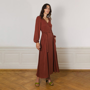 Wickelkleid von 'Komana' in Rust