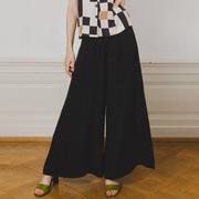 Weite Hose Birkin von 'Komana' in Cupro Stripe