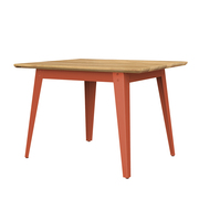 Quadratischer Tisch '6Grad' in Holz