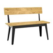 Holz Sitzbank '6Grad' mit Rückenlehne