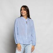 Vichy-Bluse von 'Anja Sun Suko' in Blau-Weiss