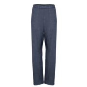 'Cupro High Waist Pants' in Midnight Blue / Graphite