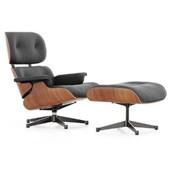 'Eames' Lounge Chair mit Ottoman in Amerikanischem Kirschbaum