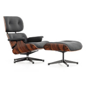 'Eames' Lounge Chair mit Ottoman in Santos Palisander