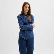 Denimhemd von 'Selected Femme' in Medium Blue