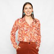 Subtiler Herbst-Glamour: Bluse 'Melia' in Peach/Orange