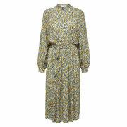 Feminines Midi-Kleid mit Millefleurs-Print