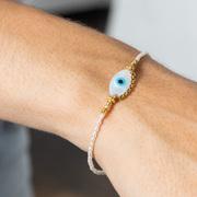 Armband 'Eye' mit Perlen in Silber oder Gold