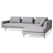 Sofa 'Edge' mit Chaiselongue rechts