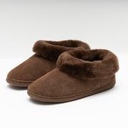 Warme Lammfell-Pantoffeln in Braun