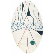 Handgetufteter Teppich 'Mobile Blanc'