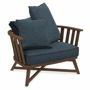 Halbrunder Sessel 'Gray' mit Polster