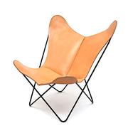 'Butterfly Chair' in Sattelleder