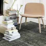 Lounge Chair 'Visu' mit Stoffbezug