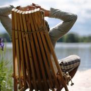 Einzelstück: Einzelstück: 'EcoChair' aus Eichenholz