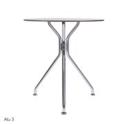 Runder Tisch 'Alu' von Kurt Thut
