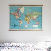 Vintage Karte 'The World'