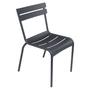 Fermob Luxembourg Stuhl Anthrazit 47  Stuhl ohne Armlehnen