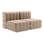 Ambivalenz Flexibler 2-Sitzer 'Curt' Vole (Grau / Braun)