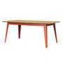 Jan Cray 6Grad Tisch Holz Rotorange, Eichenholz geölt, B: 70 cm / L: 120 cm
