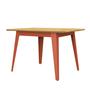 Jan Cray 6Grad Tisch Holz Rotorange, Wildeiche geölt, B: 70 cm / L: 70 cm