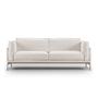Eilersen Sofa 'Slimline' Hellgrau 20 - Gravel, B: 200 cm, Gebürsteter Edelstahl